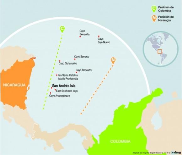 Pretensiones absurdas de Nicaragua sobre el Mar Colombiano.