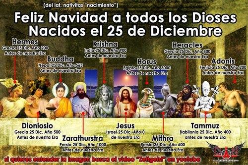 dioses celebrados en 25