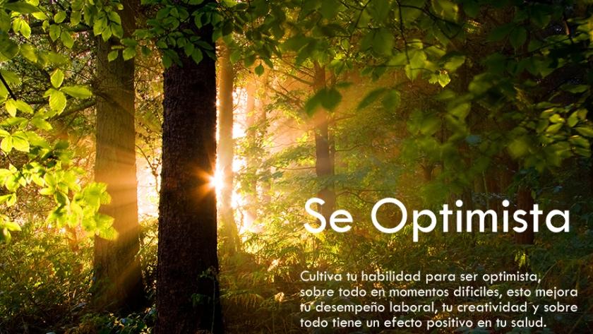 1. Sé optimista.