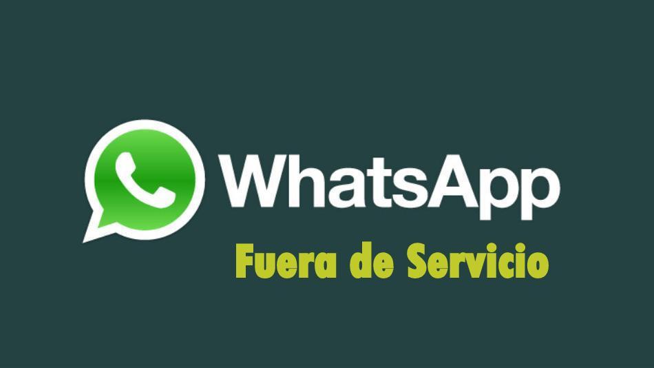 whatsapp fuera de servicio el sabanero x