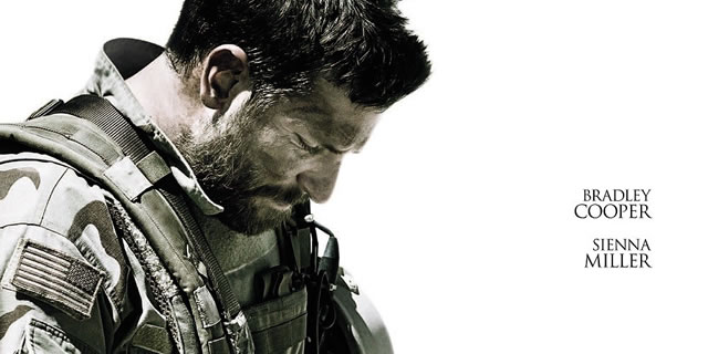 Afiche promocional de American Sniper.