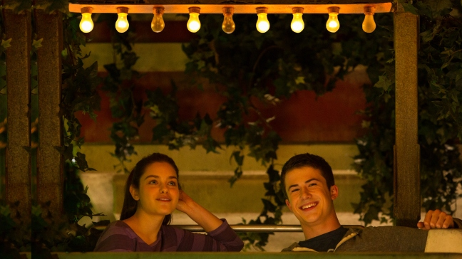 "Odeya Rush, left, and Dylan Minnette in Columbia Pictures' ""Goosebumps,"" staring Jack Black."