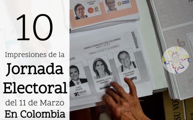 10 impresiones de la jornada electoral del 11 de marzo en colombia