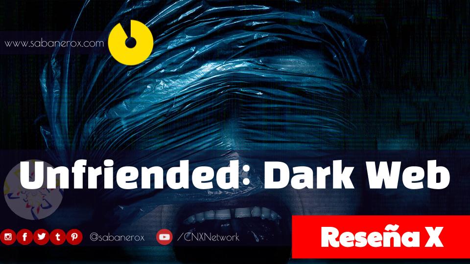 afiche promocional de unfriended dark web